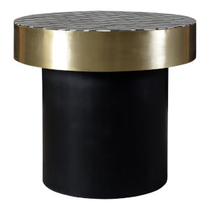 Gold and Black Optic Side Table