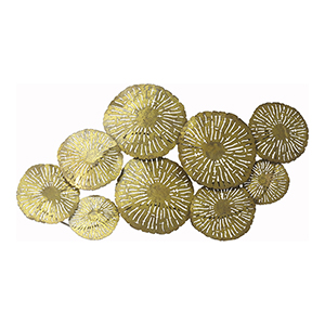 Large Gold Circles Wall Décor