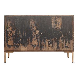 Artists Black and Brown Small Sideboard