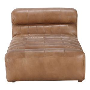 Ramsay Brown Leather Chaise Sofa