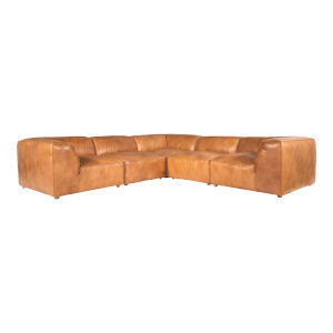Luxe Brown Classic L Modular Sectional Sofa