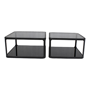 Branco Black Cocktail Table, Set Of Two