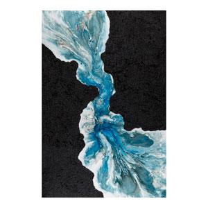 Creation Blue and Black 59 x 39-Inch Wall Art