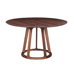 Aldo Walnut Round Dining Table