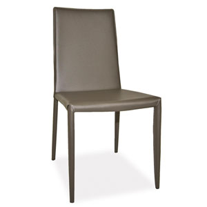 Lusso Charcoal Dining Chair, Set of 2