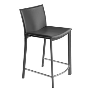 Panca Charcoal 33.7-Inch Counter Stool