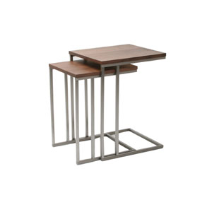 Tabella Walnut End Tables-Set of Two