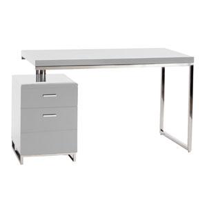 Martos White 29.5-Inch Desk