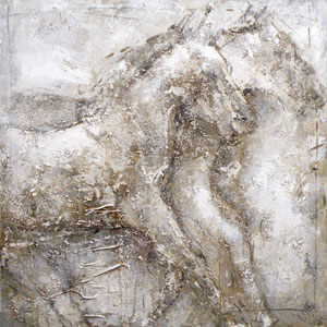Horse: 39.4 x 39 Canvas Acrylic Painting Reproduction