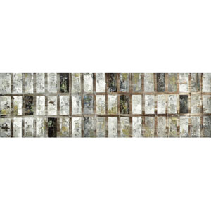 Grey Block: 72 x 22 Canvas Acrylic Painting Reproduction