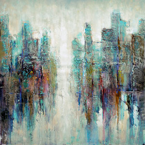 Reflection: 48 x 48 Canvas Acrylic Painting Reproduction