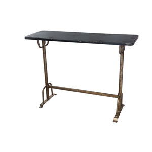 Sturdy Black and Silver Bar Table