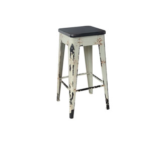 Sturdy White 29.5-Inch Bar Stool