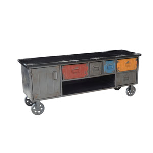 Paint Box Multi-Colored 21.2-Inch Cabinet