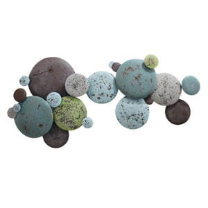 Earth Tone Multi-Colored Metal Circles Wall Decor