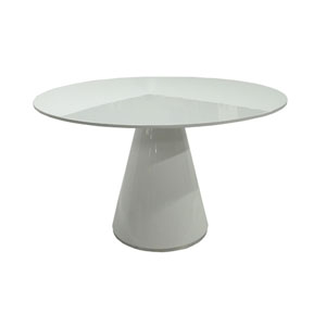 Otago White Round Dining Table