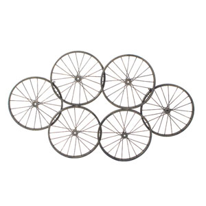 Wheels Black Wall Decor