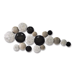 White and Gray Pebble Trail Wall Decor