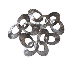 Looped Metal Silver Wall Decor