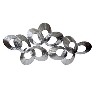 Looped Metal Silver Large Wall Decor
