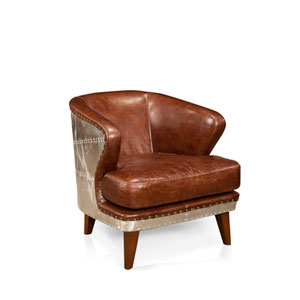 Preston Dark Brown Club Chair