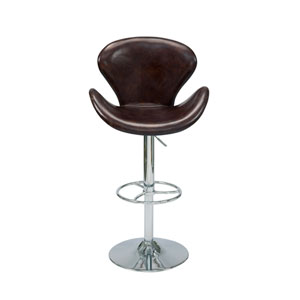 Brighton Brown 35.4-Inch Adjustable Bar Stool