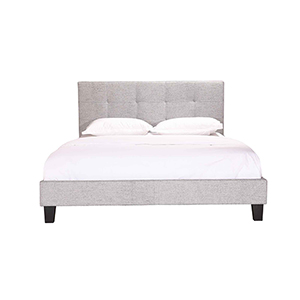 Eliza King Bed Light Grey Fabric