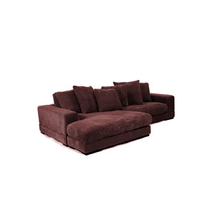 Plunge Dark Brown Sectional