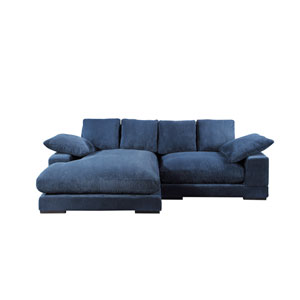 Plunge Sectional Navy Blue