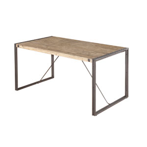 Brooklyn Natural and Grey Small Dining Table
