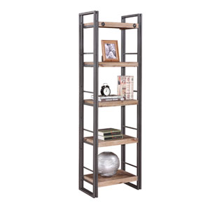Brooklyn Natural and Grey Small Open Bookshelf