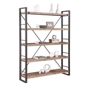 Brooklyn Natural and Grey Large Open Bookshelf