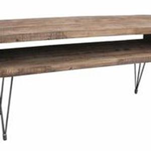 Boneta Natural Two Level Console Table