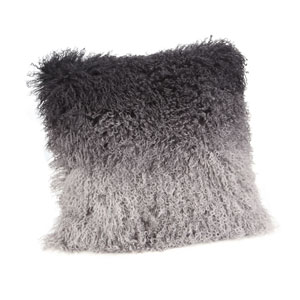 Grey Spectrum Lamb Fur Pillow