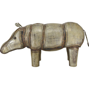 Iron Hippopotamus Scultpure