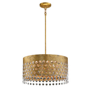 Kingsmont Glitz Gold Leaf 18-Inch Six-Light Pendant