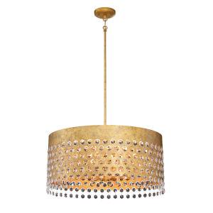 Kingsmont Glitz Gold Leaf Eight-Light Pendant