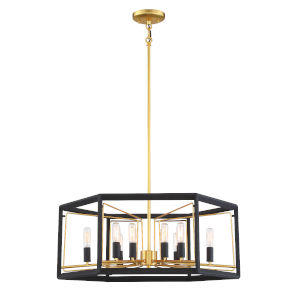 Sable Point Sand Black With Honey Gold 32-Inch 12-Light Pendant