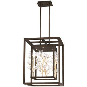 Maison Des Fleurs Regal Bronze with Empire Gold 18-Inch LED Pendant