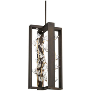 Maison Des Fleurs Regal Bronze with Empire Gold 16-Inch LED Pendant