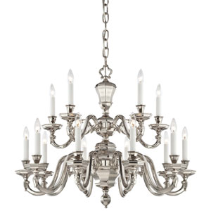 Casoria Polished Nickel 15-Light Chandelier
