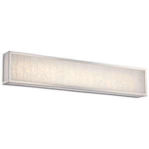 Lake Frost Polished Nickel One-Light LED 32-Inch Bath Light