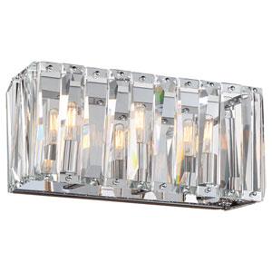 Coronette Chrome Three-Light 17-Inch Bath Light