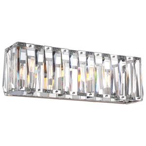 Coronette Chrome Four-Light 25-Inch Bath Light