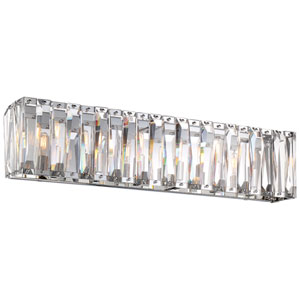 Coronette Chrome Six-Light 33-Inch Bath Light