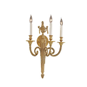 Vintage Three-Light Wall Sconce