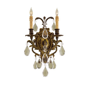 Metropolitan Two-Light Crystal Wall Sconce
