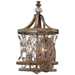 Vel Catena Arcadian Gold Two-Light Wall Sconce