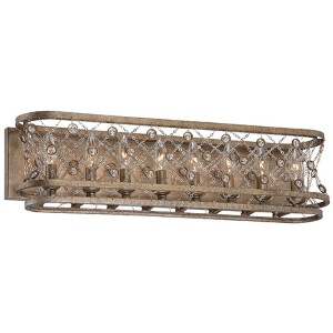 Vel Catena Arcadian Gold Eight-Light Bath Fixture