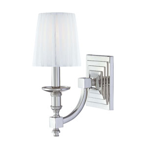 Metropolitan Polished Nickel One-Light Wall Sconce